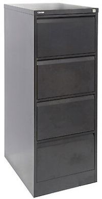Black Steel 4 Drawer Filing Cabinet - Sydney Mascot NSW ...