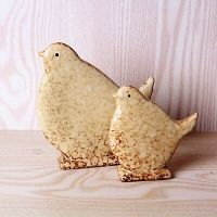 Set of 2 Rustic White Bird Ornaments/Wooden Painted Birds ...