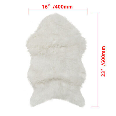 faux fur chair cover outdoor covers ikea white sheepskin baby rugs warm hairy carpet seat mat home
