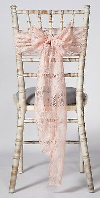 blush chair sashes uk ikea lounge pink lace wedding sash overlay runner 14 99