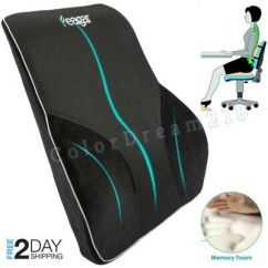 Office Chair Back Cushion High Desk Lumbar Support Pillow Car Seat Orthopedic Memory Foam