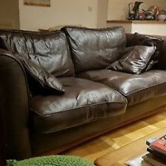 Genuine Leather Sofa Uk Sectional Sleeper Chocolate Brown 3 Seater Collection Se4 Bargain