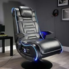 Pro Gaming Chairs Uk How To Reupholster A Dining Room Chair X Rocker New Evo Led Edge Lighting Optical Usb 12 Years