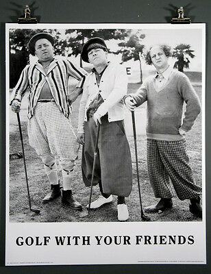 THE THREE STOOGES Golf With Your Friends Mint Rolled Poster Larry Curly Moe 1500