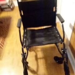 Carex Transport Chair Folding Kitty 19 Inch Wheelchair With Foot Rests