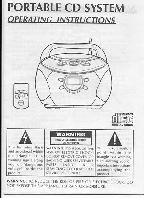 ALCO VENTURER PORTABLE CD system boombox User Manual NEW