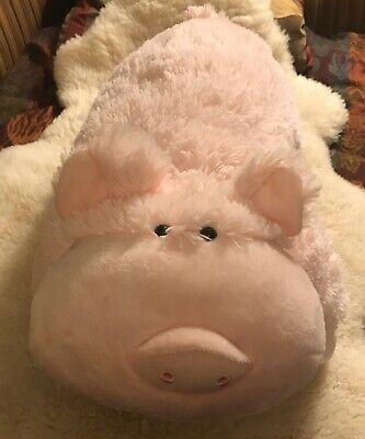 nwt pee wee pillow pet wiggly pig pink