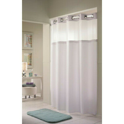 huis hookless shower curtain snap liner