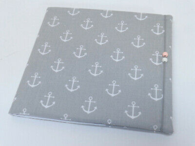 Large address book in a fabric cover with elastic anchor gray NEW phone book