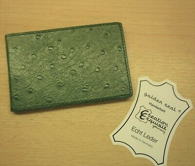Classic A7 landscape format Address and telephone register, leather green