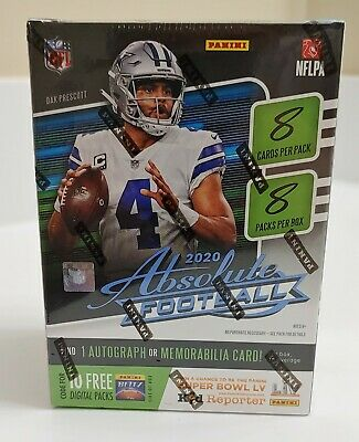 2020 Panini Absolute Blaster Box Football EXCLUSIVE PARALLELS AUTO - KABOOM
