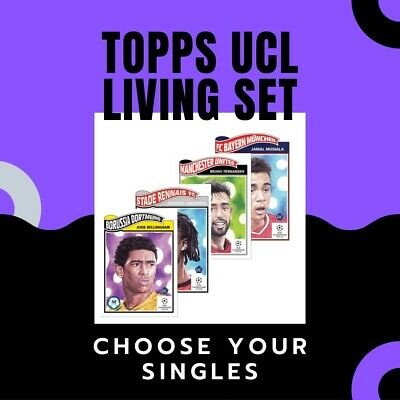 TOPPS UCL/UEL Living Set Cards *CHOOSE YOUR SINGLES*