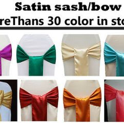 Chair Covers And Bows Ebay Baseball Bean Bag Target 50 Satin Sash Bow Sashes Tie Wedding Party Decoration 30color