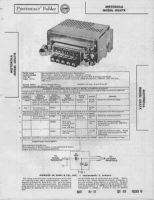 1957 MOTOROLA 57X1 Radio Service Manual Photofact