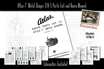 ATLAS/CLAUSING 6& METAL Lathe 10100 Service Manual Parts
