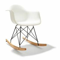 Rocking Chair - Timber and upholstered  AUD 55.00 ...