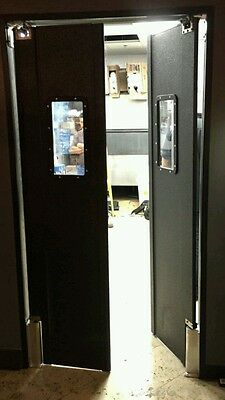 commercial kitchen door premade cabinets 48 x 84 grocery traffic restaurant double swing