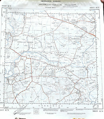 1841 Original Antique Map of Yorkshire East Riding by