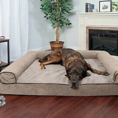 Soft Sofa Dog Bed How To Make Slipcovers For Sectional Faux Fleece Chenille Woven Orthopedic Pet