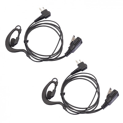 LOT 2 X Coodio D-Ring Earpiece Police Security Headset