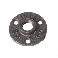USEFUL 1/2 3/4 BSP Malleable Threaded Floor Flange Iron ...