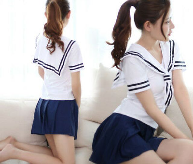 Women Sexy Sailor Japan School Girl Uniform Fancy Dress Cosplay Costume Lingerie