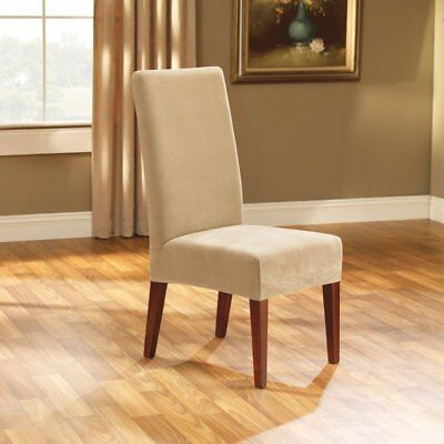 chair covers cotton calgary elastic stretch slip fit dining beige 29 90 sure pique shorty room slipcover cream sf38682