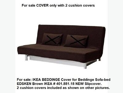 sofa bed covers apartment therapy guide ikea cover for beddinge sofabed w cushion edsken brown 40188118 189 00 picclick