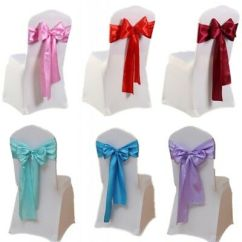 Party Decorations Chair Covers Bamboo Dining Chairs Gold Coast 10 20 50pcs Satin Cover Sashes Bows Ties Wedding 240cm
