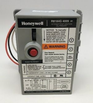 HONEYWELL R8184G1286, 4009 Incl Cad Cell Eye 120320 & Oil