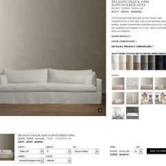 Petite Belgian Track Arm Slipcovered Sofa Simmons Hide A Bed Convertible Restoration Hardware 1 299 00