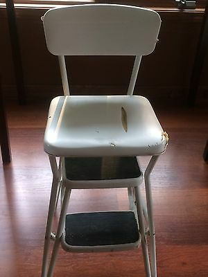 cosco retro counter chair step stool vintage steelcase chairs white 12 95 picclick