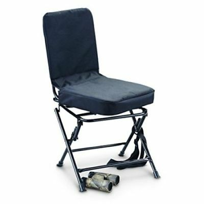 duck blind chair office doesn't stay up hunting swivel 360 degree folding travel stool seat portable black legs