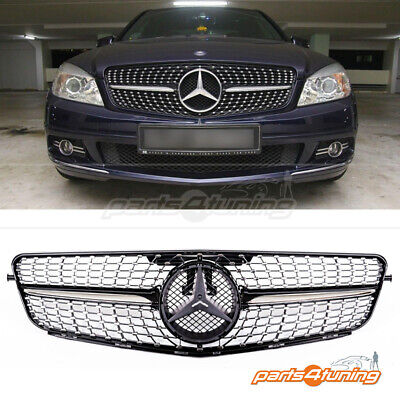 MERCEDES BENZ W204 AMG Grill 2007- 2014 One Strip C63 Look
