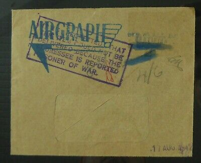 GB Postal History Airgraph Undelivered As Addressee is Please SEE BELOW DF474