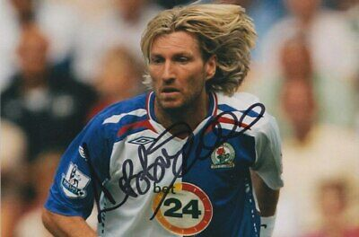 Robbie Savage Hand Signed 6X4 Photo - Blackburn Rovers Autograph - Football