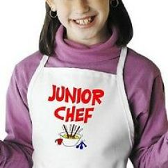 Kitchen Apron For Kids Cabinet Repair Cute Child S Cooking Chef In Training Novelty Aprons By Children Junior Coolaprons