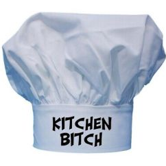 Kitchen Hats Sink Depth Bitch Funny White Chef For Cooking With Toque