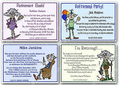 personalised retirement party invitations