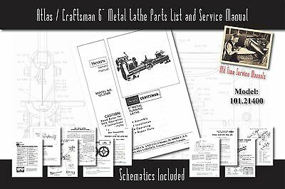 LATHE OWNERS MANUALS, Instructions, Parts List, Atlas