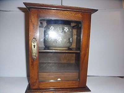 VINTAGE WOODEN Smoking Cabinet With Internal Pipe Rack