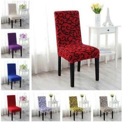Stretch Dining Chair Covers Uk Poly Wood Chairs Slipcover Spandex Lycra Cover Room Wedding Party Removable Slipcovers Seat