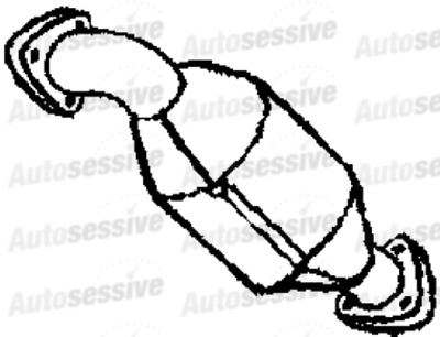 FORD PUMA 1.6 Coupe 01-02 Exhaust Catalytic Converter