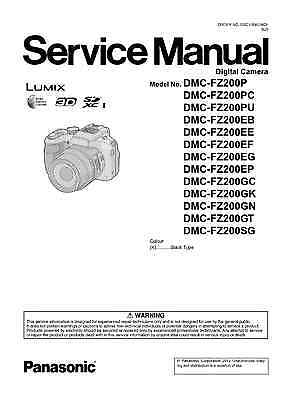 Printed manual/ user's guide to the Panasonic Lumix FZ200