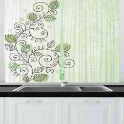 Kitchen Drapes Bathroom And Remodeling Romantic Curtains 2 Panel Set Window 55 X 39 Vine Ambesonne