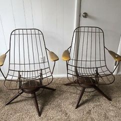 Mid Century Modern Wire Chair Chairs At Walmart Vintage Home Crest Set 2 Patio Dining Homecrest