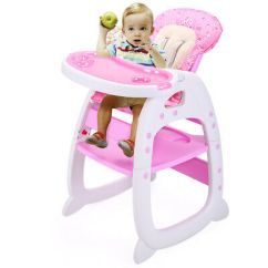 Infant Feeding Chair Fancy Bedroom Chairs 3in1 Convertible High Play Table Seat Booster Toddler Tray