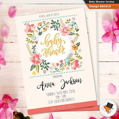 Personalised Baby Shower Invitation Card Boy Invite Cards