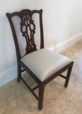 maitland smith dining chairs chair protector covers set of 10 regency finished mahogany chippendale