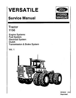 FORD VERSATILE SERVICE Manual Tractors 835 855 875 895 935
